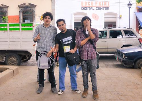 Con parte del grupo Dahila