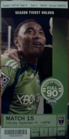 Sounders ticket
