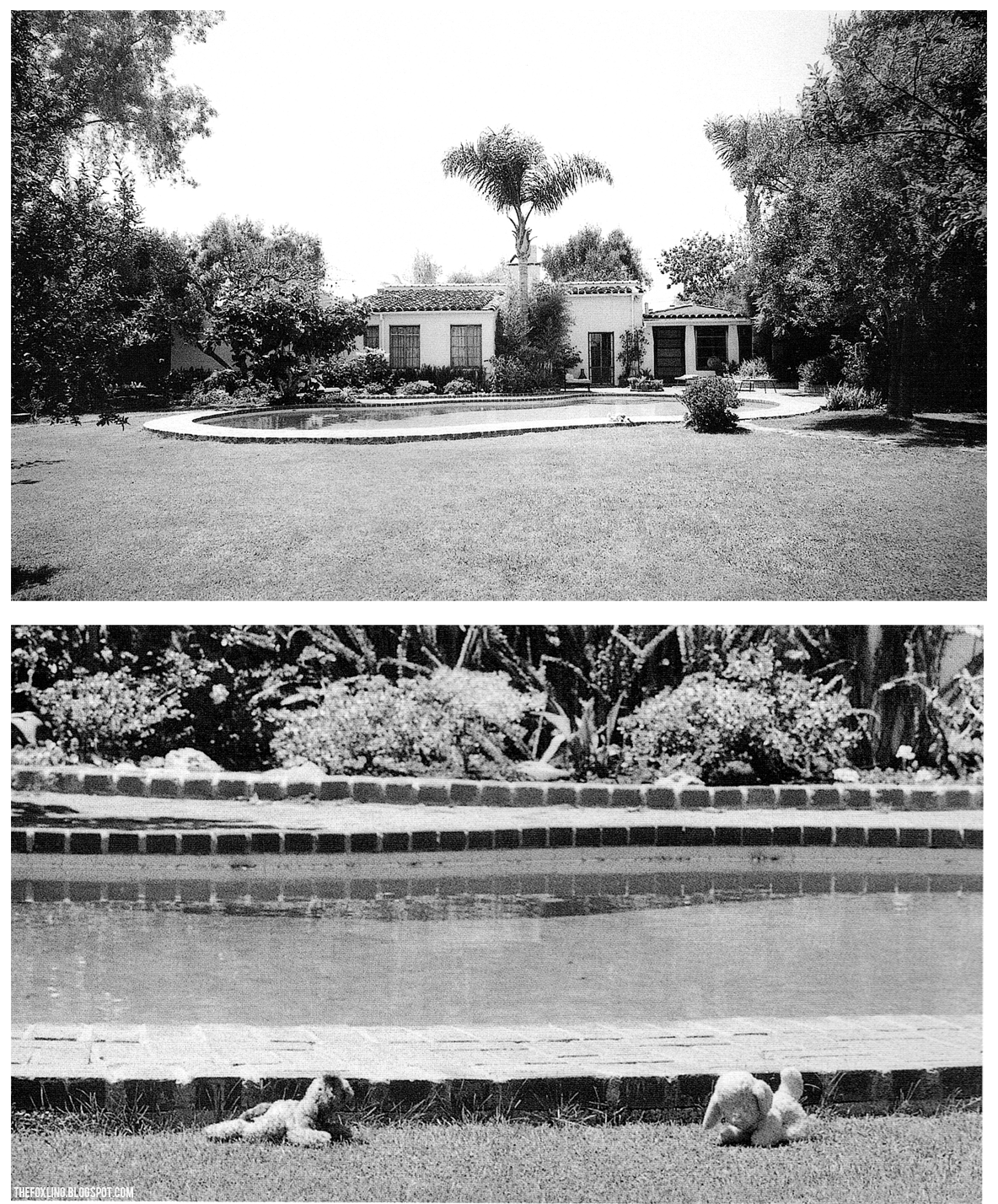 Marilyn Monroe's home on the day of her death