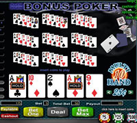 Video Poker Bonuses