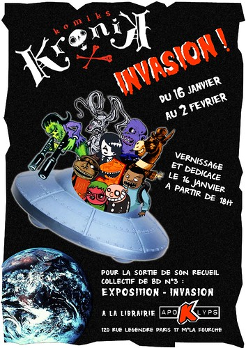 Flyer exposition Kronik Invasion