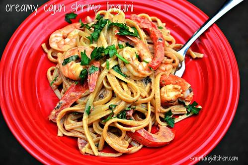Creamy Cajun Shrimp Linguini