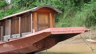 typical Luang Prabang river boat
