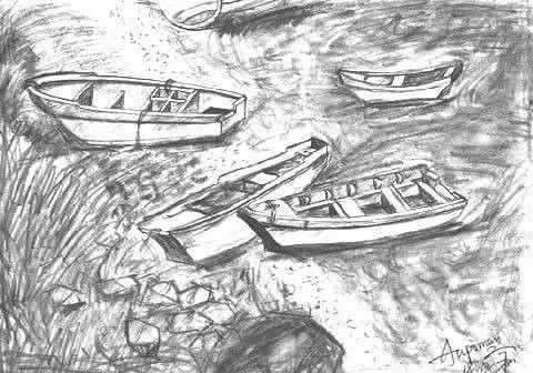 Boat Scenery Drawing Aupoman-scenery-drawing-boat