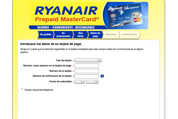 Cash Passport de Ryanair