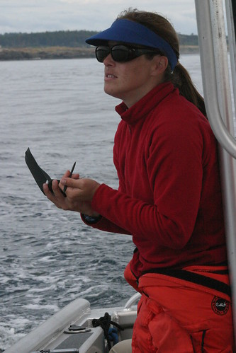 Dawn Noren Collecting Data on Hand Held Device 2006