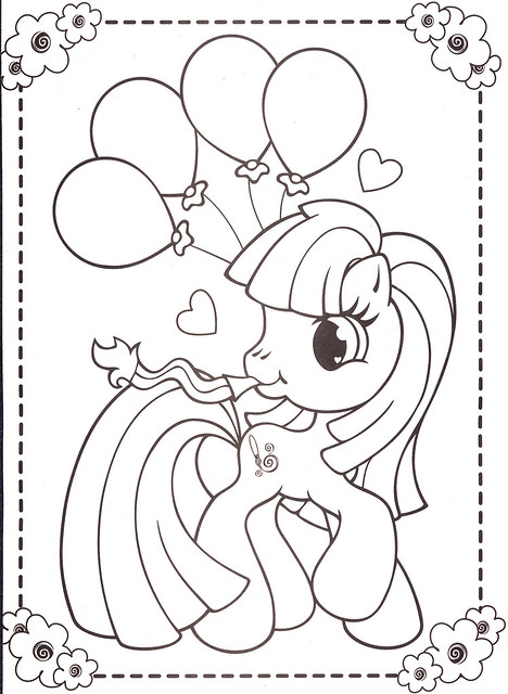 My Little Pony Happy Birthday Coloring Pages : Free my little pony birthday coloring pages