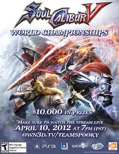SoulCalibur V World Championships poster