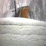 テントは積雪1mの上に立っておりますなう。