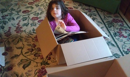 March 25, 2012: A cardboard box is still a great toy!