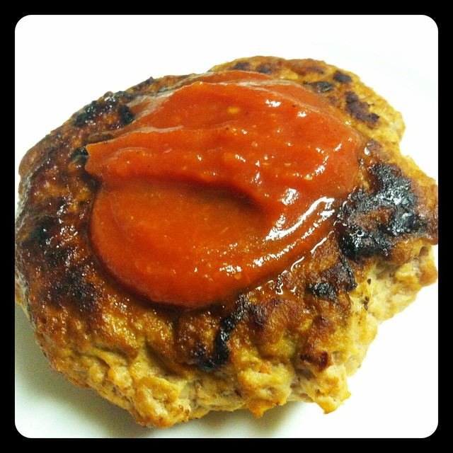 Turkey burger with homemade paleo ketchup