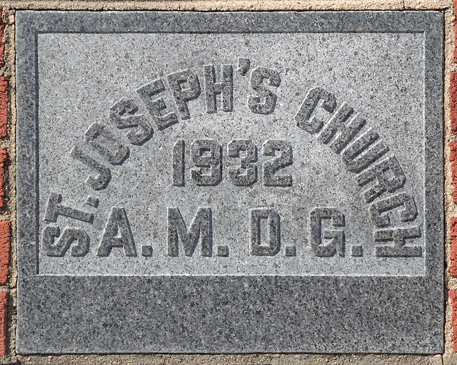 Church of the Risen Savior (Saint Joseph), in Rhineland, Missouri, USA - cornerstone