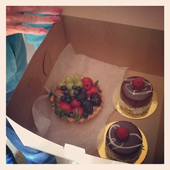 Treats from my Mom as we dropped off the boys! #truffles&tortes