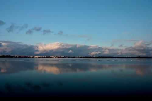 sunset sea reflection water suomi finland landscape mirror spring scenery vy april finnish 2012 vaasa vasa landskap
