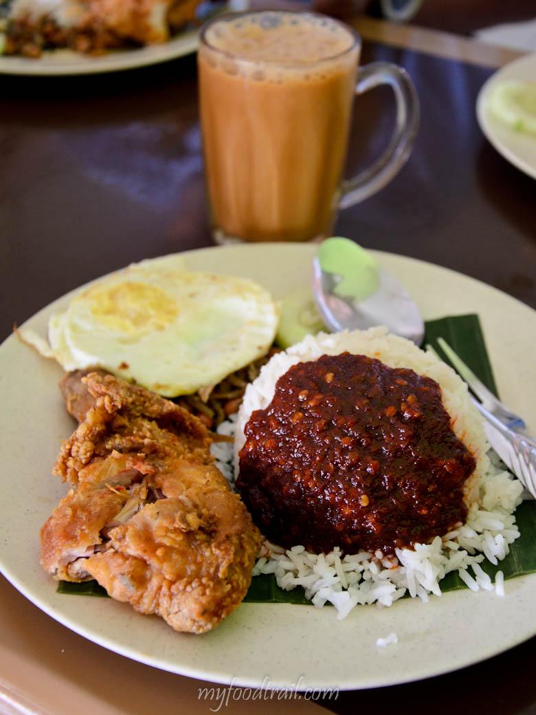 Johor Bahru Food - Nasi lemak & teh tarik