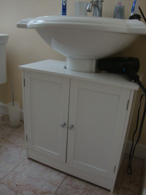 Pedestal Sink Cabinet : Storage cabinet for under pedestal sink $25 Flickr - Photo Sharing!