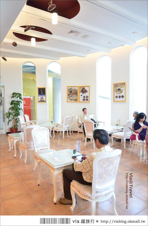 【彰化大村】進昌咖啡烘焙館~田園中的黃色歐式城堡!9