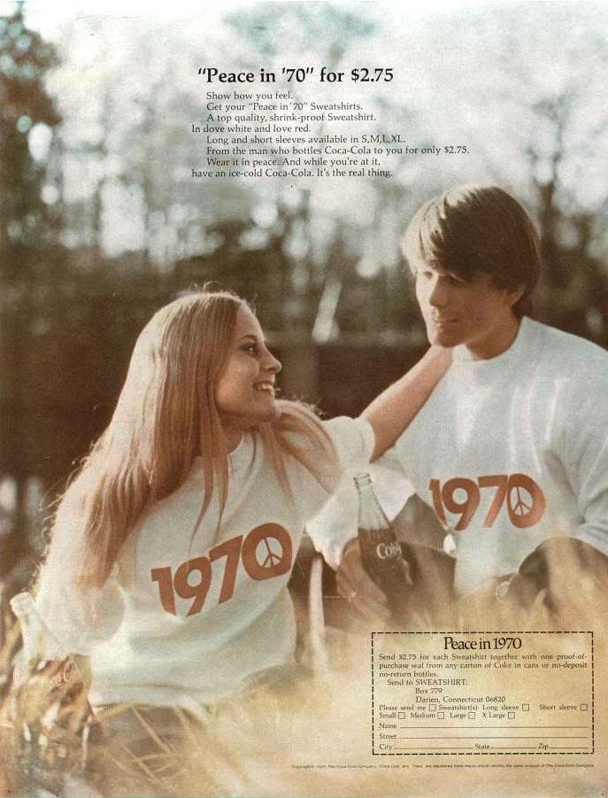 coca-cola Peace in 70