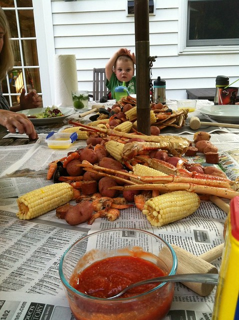 The spread...my first seafood broil