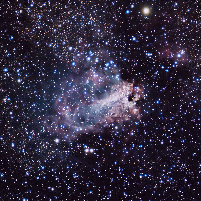 The Omega Nebula (M17) in the Constellation Sagittarius ...