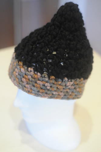 Black & brown hat