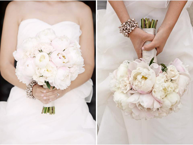 romantic-bridal-bouquet-white-ivory-light-pink-peonies-white-wedding-dress-california-wedding