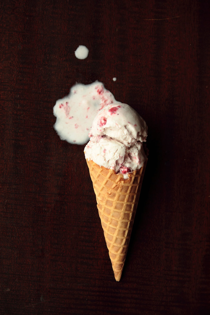 Roasted Strawberry Coconut Ice Cream