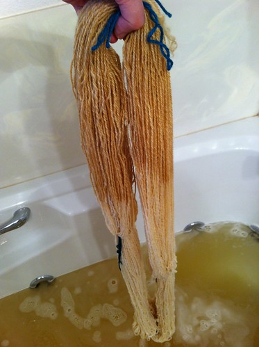 Third skein being washed. by BlueDragon2