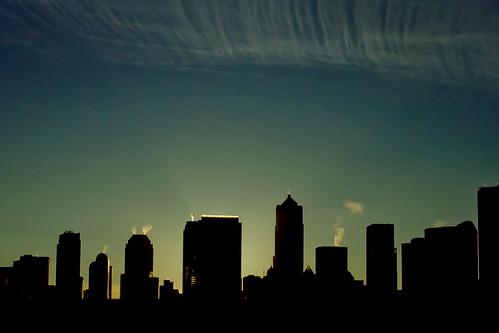 Seattle sunrise July 12th