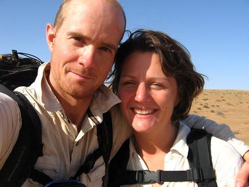 Celebrating having crossed the final dune