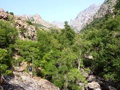 Trace cairnée de Tana di l'Orsu : à la sortie de la vallée vers le couvent de Santa Maria
