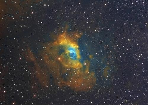 NGC7635 Bubble nebula in Hubble palette