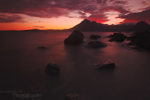 Elgol On Fire by Dave Brightwell