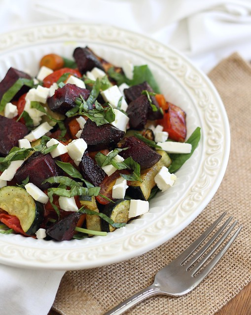 Roasted summer vegetable salad
