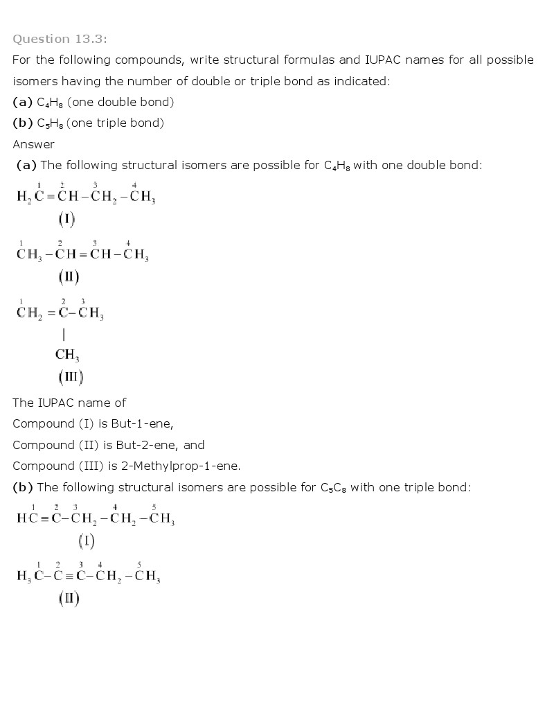 Chemistry Book Ch 13 Hydrocarbons Class 11 NCERT Solutions