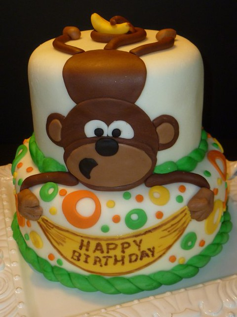 Monkey Cake by Yvonne C, Twin Cities, MN, www.birthdaycakes4free.com ...