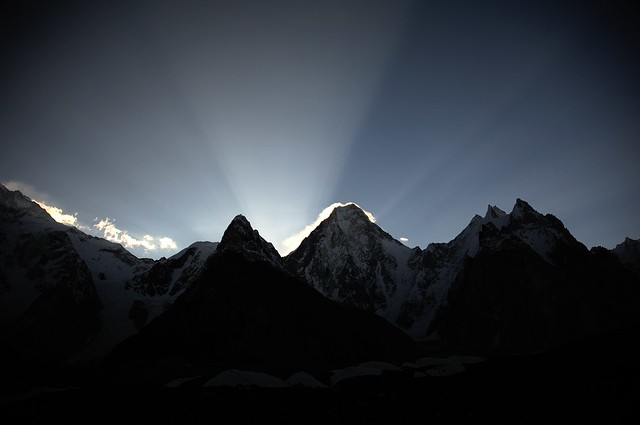 Gasherbrum IV (7925 m) at sunrise