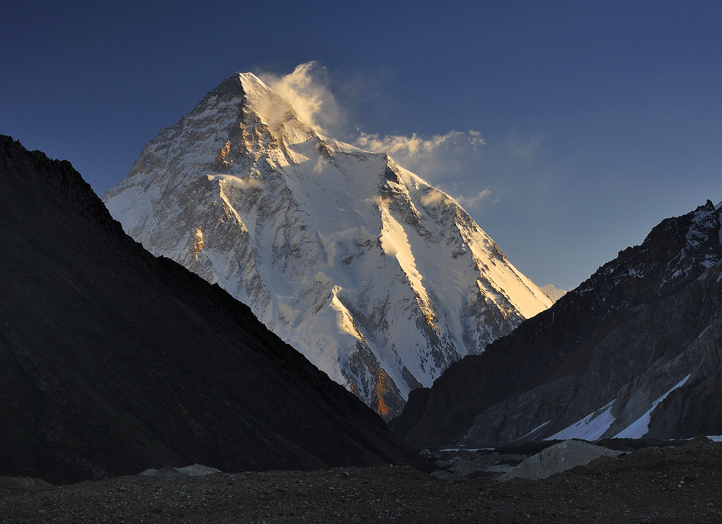 K2 (8611 m) at Sunrise, Concordia