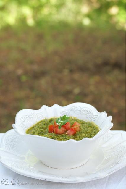Lettuce gazpacho