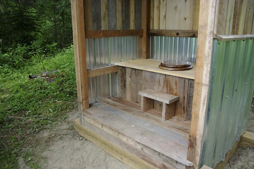 The new outhouse