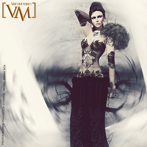 [VM] VERO MODERO AYLO OWL DRESS BLACK