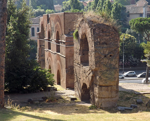 The Aqua Claudia on the Palatine Hill in Rome, July 2012