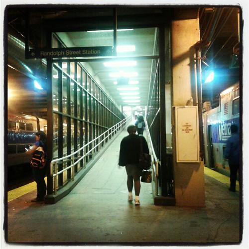 Waiting for my train buddy
