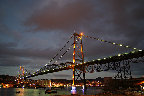 Twilight on the bridge Hercílio Light - Florianopolis - Brazil!