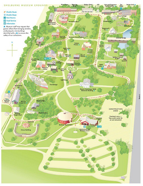Shelburne Museum Map