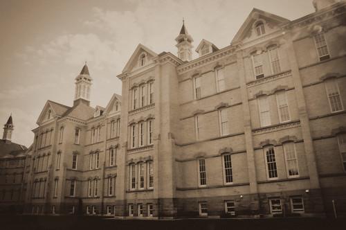 Edited asylum facade