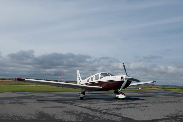 G-KNCG on the ramp at Stornaway Airport - Trip to the Outer Hebrides