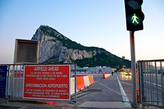 Gibraltar airport (GIB/LXGB) pedestrian cross