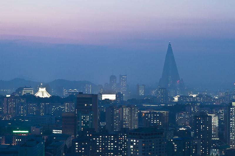Pyongyang at dusk