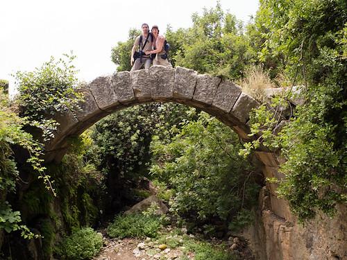 Puente romano en forma de arco